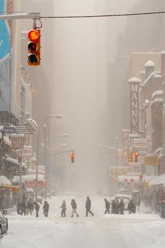 Blizzard, NYC by Tomas A.