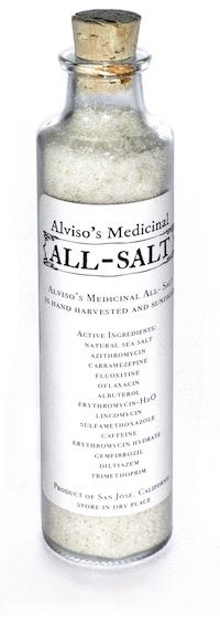 Are you feeling depressed? Sick of paying exorbitant rates for birth control? Try Alviso's Medicinal All-Salt, harvested locally in San Jose.