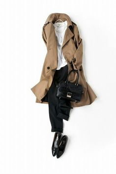 Neutral tones for the autumn with a trenchcoat Office Fashion, Daily Fashion, London Fashion, Casual Outfits, Fashion Outfits, Womens Fashion, Looks Style, My Style, Mode Simple