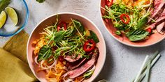 A little bit Thai, a little bit comforting, and a little bit refreshing, this one-bowl dinner showered in pea shoots and fresh herbs hits all the sweet spots for an early spring 30-minute meal.