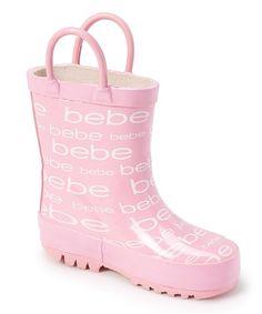 Look what I found on #zulily! Light Pink 'Bebe' Rain Boot #zulilyfinds