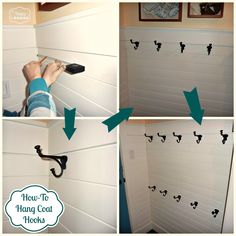 How To Hang Coat Hooks at thehappyhousie