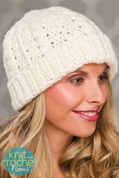 Free Crochet Pattern Download -- This Crochet Cables Hat, designed by Candi Jensen, is featured in episode 405 of Knit and Crochet Now! TV. Learn more here: www.knitandcrochetnow.com