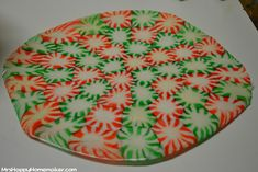 Making a peppermint plate or bowl!