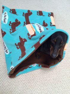 DOUBLE WIDE Weenie Warmer Combination Dachshund Blanket/Sleeping Bag - The Frank by WeenieWarmers on Etsy