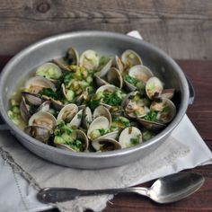 clams with mirin lime and cucumber