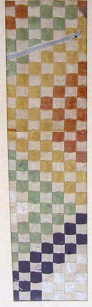 Textile with Polychrome Checks