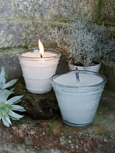 These candles are encased in sturdy glass and are designed to be used either on an outdoor table or dotted along the garden path - either way, they will cast a magical light.