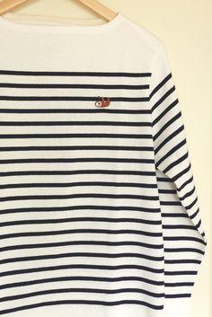 なまけもの刺しゅうカットソー(長袖・メンズ)|メンズファッション|はぎれいろ|ハンドメイド通販・販売のCreema