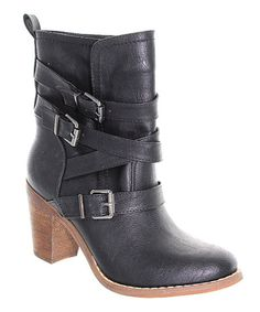 Take a look at this Black Jacky Buckle Boot on zulily today!