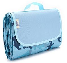 LOLITA hiking camping blanket picnic mat moisture pad leisure and entertainment 1KG 145x200 CM (Blue pattern moisture pad, 145 X 200 CM) *** Want additional info? Click on the image.
