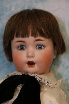 """22"""" Schutzmeister & Quendt Large Baby Doll Marked 201 German Bisque Doll c. 1920"""
