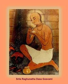 Raghunath das Goswami.  Chaitanya Mahaprabhu gave him His personal shila from Govardhana Hill and a string of gunja mala.