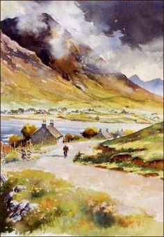 Isle of Skye watercolor - John Stoa