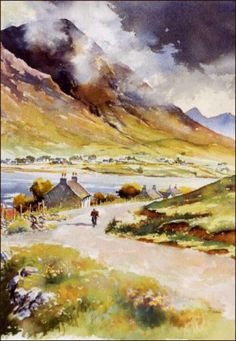 Isle of Skye watercolor - John Stoa