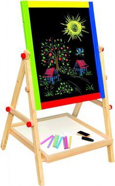 Bino Magnetická tabule oboustranná. Šetřete naše lesy a místo papíru využijte na malování magnetickou oboustrannou tabuli.