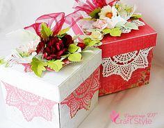 Ślubny exploding box.... bliźniacze pudełka :-)