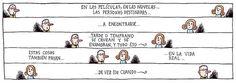 Liniers – En las películas, en las novelas… las personas destinadas a encontrarse… tarde o temprano se cruzan y se enamoran, y todo eso. Estas cosas también pasan en la vida real… de vez en cuando
