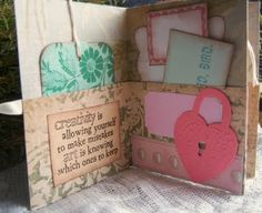 mini album, love this! Would be great for ATCs and other paper treasures