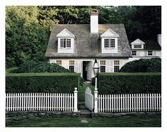 white picket fence and all