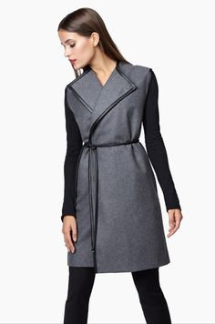 Wool Belted Vest