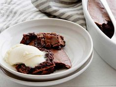 Legit one of my fattiest finds, but also one of my favorite recipes of all time: Brownie Pudding. I always use a half cup less sugar because it is VERY sweet with it. @david @Food Network #Recipes #Dessert