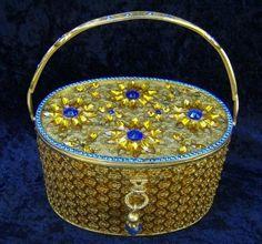60s Walburg Jeweled Lucite Box Purse