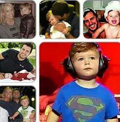 Luke Bryan, Caroline Bryan, and their son, Bo