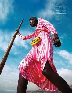 "awesome Vogue Holanda Julho 2013 | Kinee Diouf em ""Neon Oase"" por Ishi   [Editorial]"