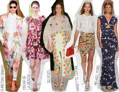 Semana de la Moda de Nueva York Primavera Verano 2014 Tendencias Estampado flores