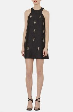 Topshop Embellished A-Line Dress available at #Nordstrom