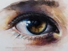 Watercolor painting Portrait Of Beautiful Girl - YouTube