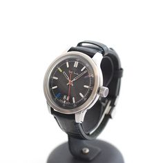 Paul Smith - Cambridge Big Date Watch (Navy Dial/Black Leather Strap)