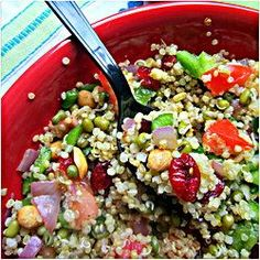 This Quinoa Salad makes the perfect side dish for a bbq.