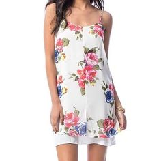 Ivory, Floral Printed Day Dress [[ SLB DETAILS & PHOTOS TO FOLLOW ]] Boutique Dresses Mini