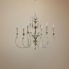 Quorum Salento Wide Persian White Chandelier Lamps Plus Dining Lighting, Rustic Lighting, Living Room Lighting, White Chandelier, Chandelier Lighting, Chandeliers, French Country Lighting, Glam Bedroom, Master Bedroom