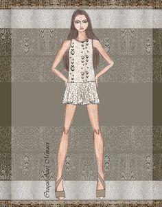Auriele (desenhos de Moda): Especial SPFW - Verão 2014 - Juliana Jabour