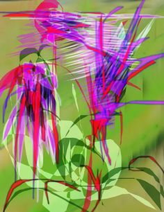 Flowers and birds 5 ← an abstract Speedpaint drawing by Anisoara