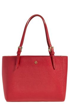 Tory Burch 'Small York' Saffiano Leather Buckle Tote | Nordstrom - I love this purse - would like red or navy color, pink is nice too
