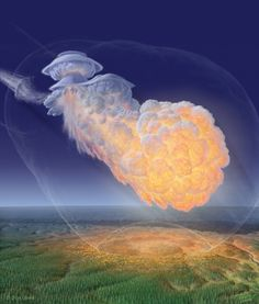 THE TUNGUSKA EXPLOSION.A T 7:17am on 30th June 1908 there was a massive explosion in the atmo­sphere five miles above Siberia. It left the forest underneath burnt and charred, and pushed trees over in a ...