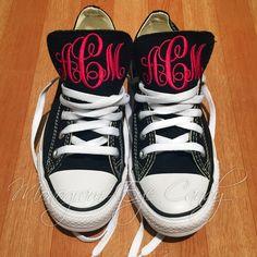 Monogram Converse Sneakers- Black – Monogram Eye Candy