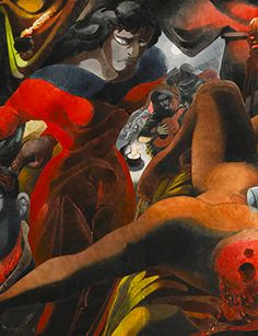 Edward Burra, Judith and Holofernes (detail). Pencil and watercolour, 100.5 by 130cm.; 39½ by 51¼in. Executed in 1950-1