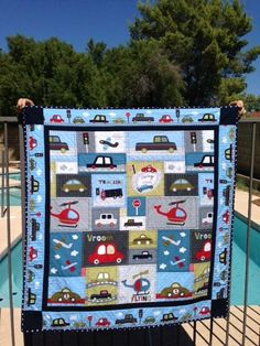 Vroom baby quilt
