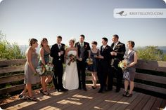 Daybreak Star is the perfect spot for your wedding party photos. Kristi Lloyd Photography / Margaret & Travis's Daybreak Star Wedding