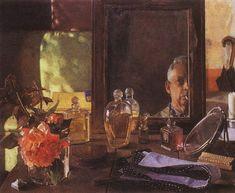 Self-Portrait in the Mirror Artist: Konstantin Somov Completion Date: 1934