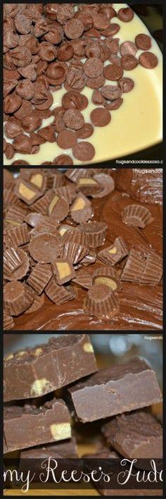 Reese's Slow Cooker Fudge - OMG Creamiest fudge ever!!! Hugs and Cookies XOXO