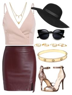 """Untitled #145"" by victorine-b ❤ liked on Polyvore featuring moda, Nine West, Cartier, Charlotte Russe, Edge of Ember, Topshop, women's clothing, women, female y woman"