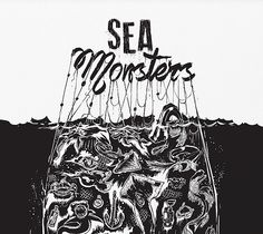 Sea Monsters Print / Plakat