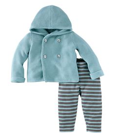 Look at this Smokey Blue Blauer Junge Pima Cardigan & Pants - Infant on #zulily today!