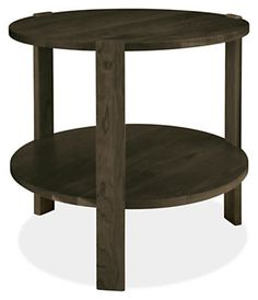 The Arts and Crafts principles of honesty in design and simplicity in form inspired our Greene end table. Clean, straight legs are inset into a simple round top and shelf for a functional, straightforward design that allows the material to speak for itself.